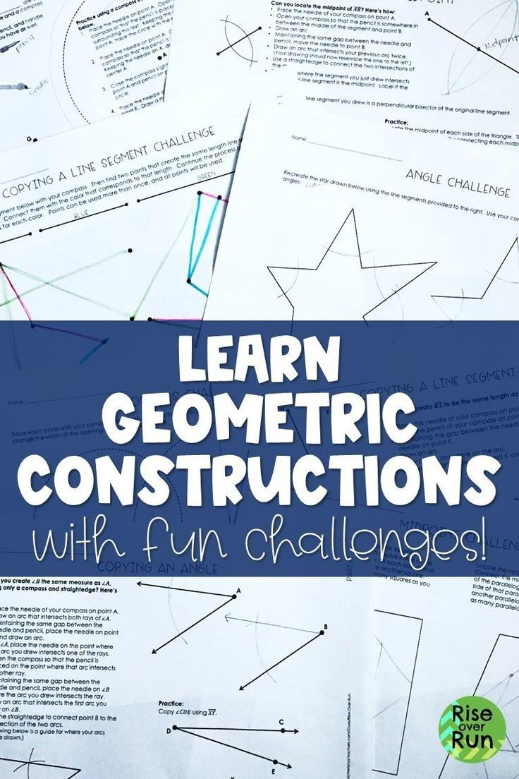 Constructions Intro for Geometry, Step by Step