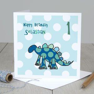 Personalised dinosaur boys birthday card shop by price ss17 birthdays card shop bookmarktalkfo Gallery