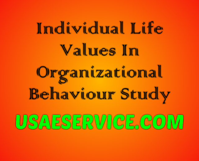 Individual Life Values In Organizational Behaviour Study Online Mba Program Study Notes Service In Usa Life Values Organizational Behavior Study Notes