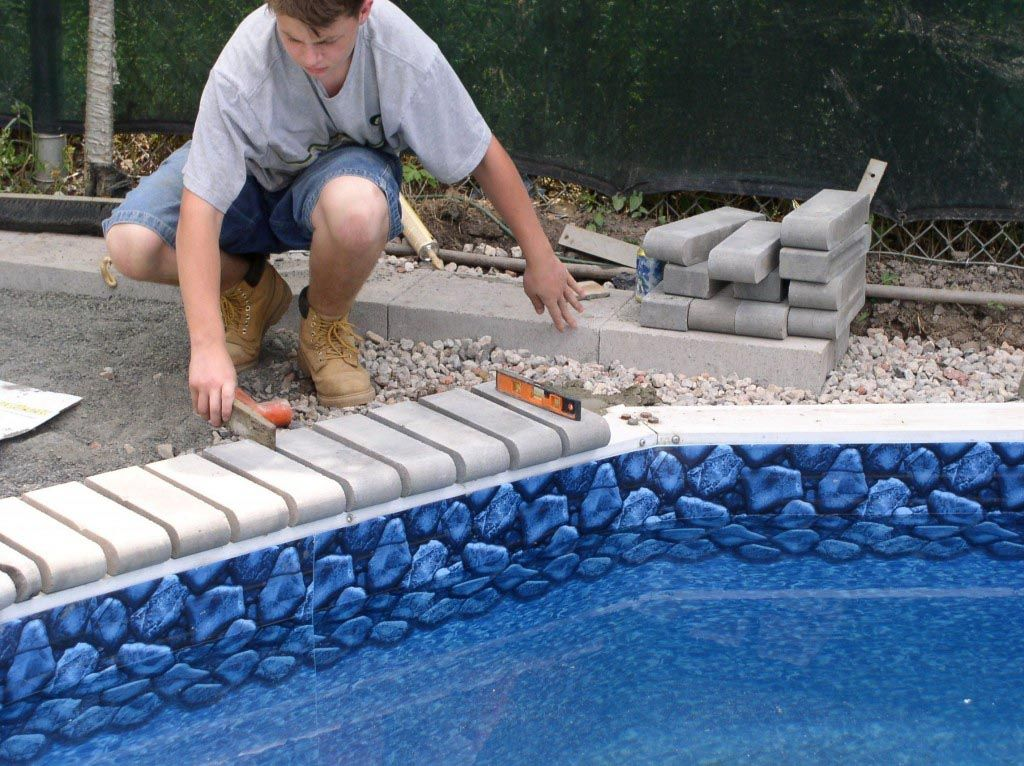 Swimming Pool Coping Replacement