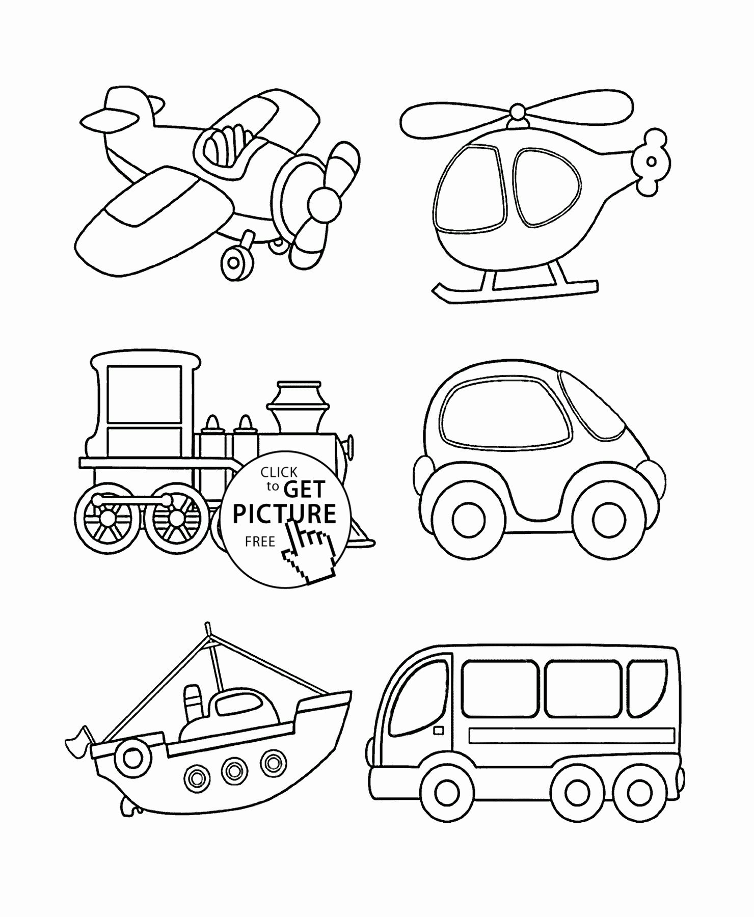 Transport Coloring Pages Free Printable In