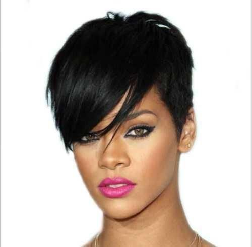 Short Hair Cut Straight Layered Synthetic Full Wigs