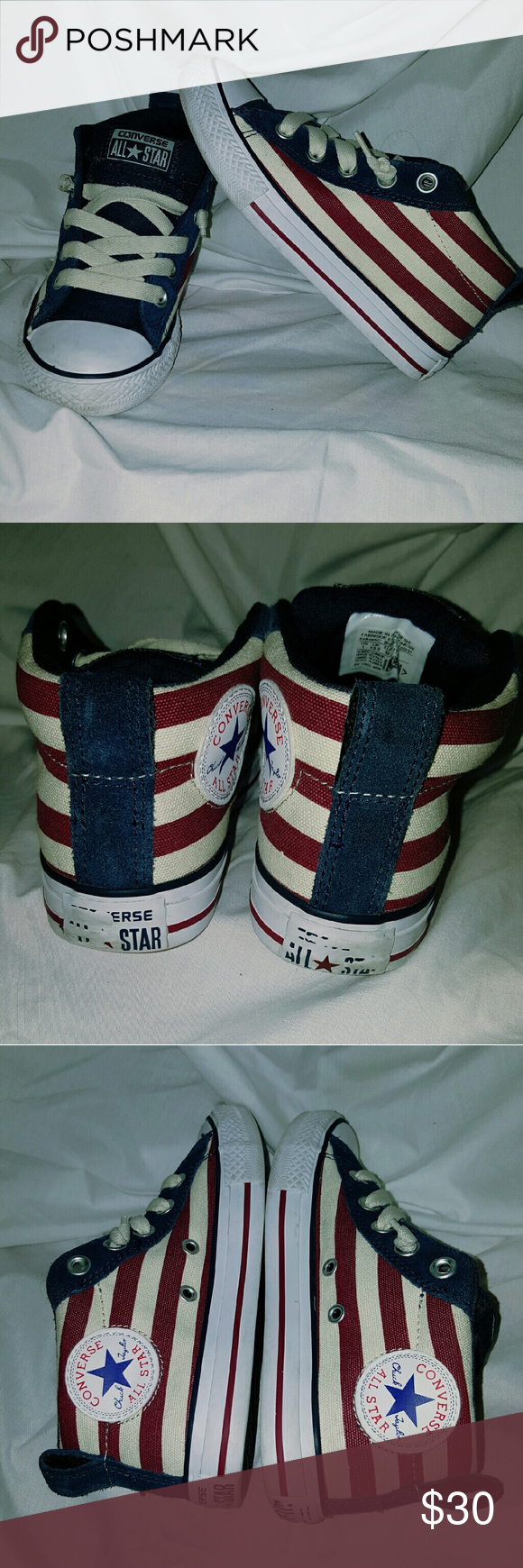 Converse CT STREET MID Converse CT STREET MID Navy/Maroon Size:1  Excellent condition; needs to be wiped down Converse Shoes Sneakers