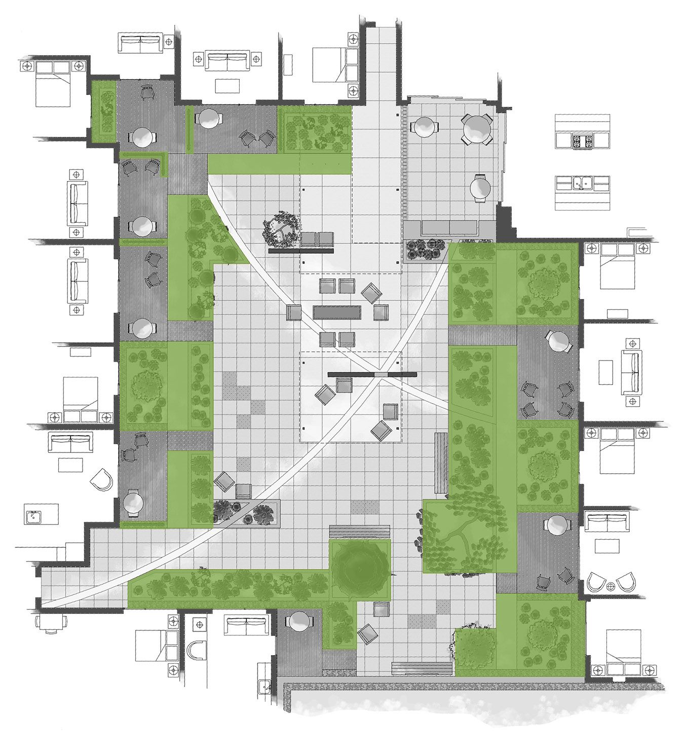 Intensive Residential Green Roof Spatial Diagramming