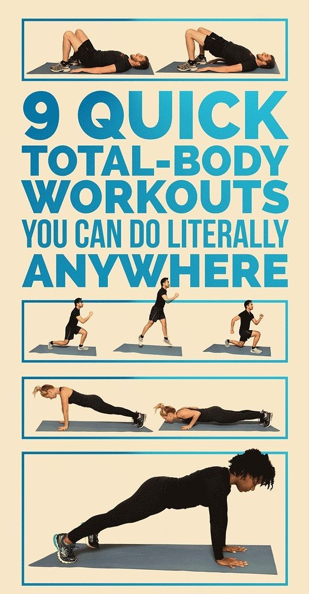 9 Quick TotalBody Workouts, No Equipment Needed Indoor