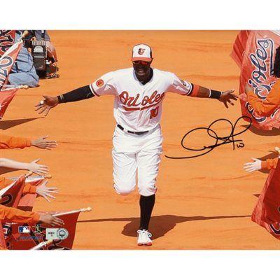 8c771519534 Adam Jones Baltimore Orioles Autographed 8   x 10   Orange Carpet Photograph