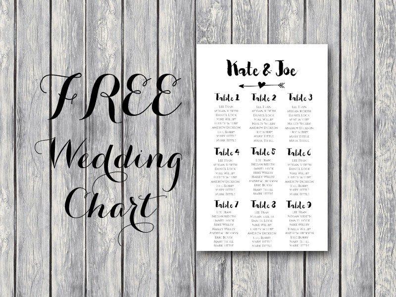 free-wedding-seating-chart-printable-template-editable Templates - free charts templates