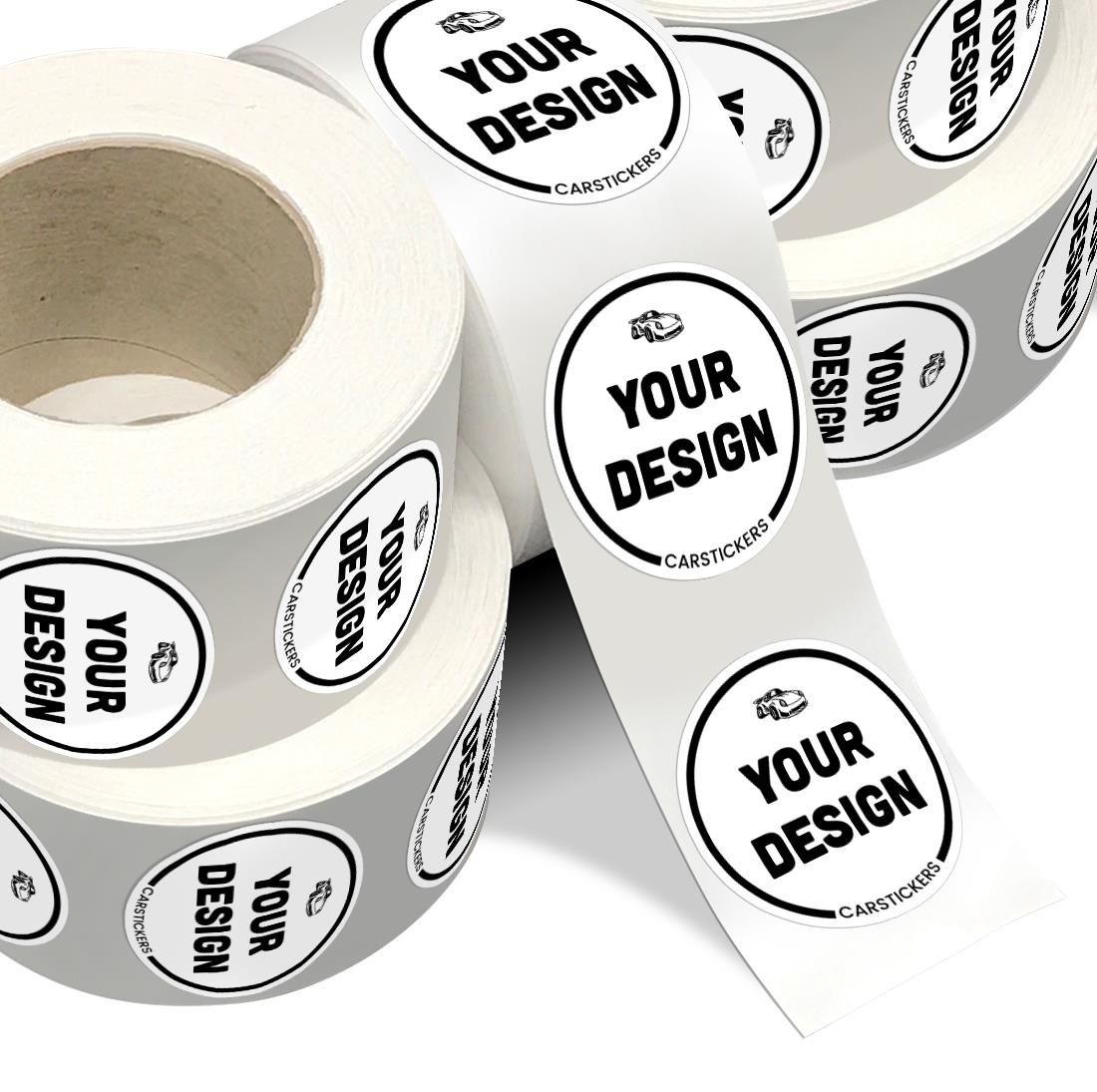 Printed roll labels are a cost effective way to order stickers or labels in bulk for both business and personal use