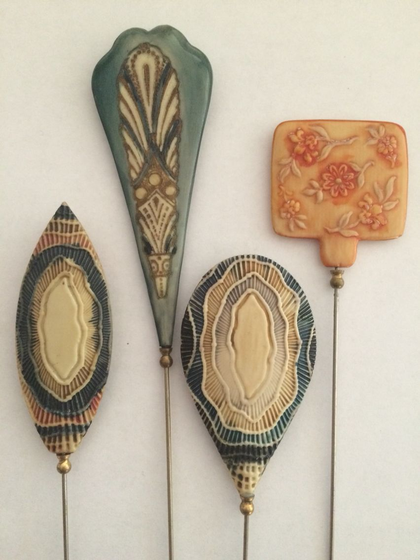 Examples Of Celluloid Hatpins From The 1910s 1920s Hats Vintage Antique Hats Celluloid Jewelry