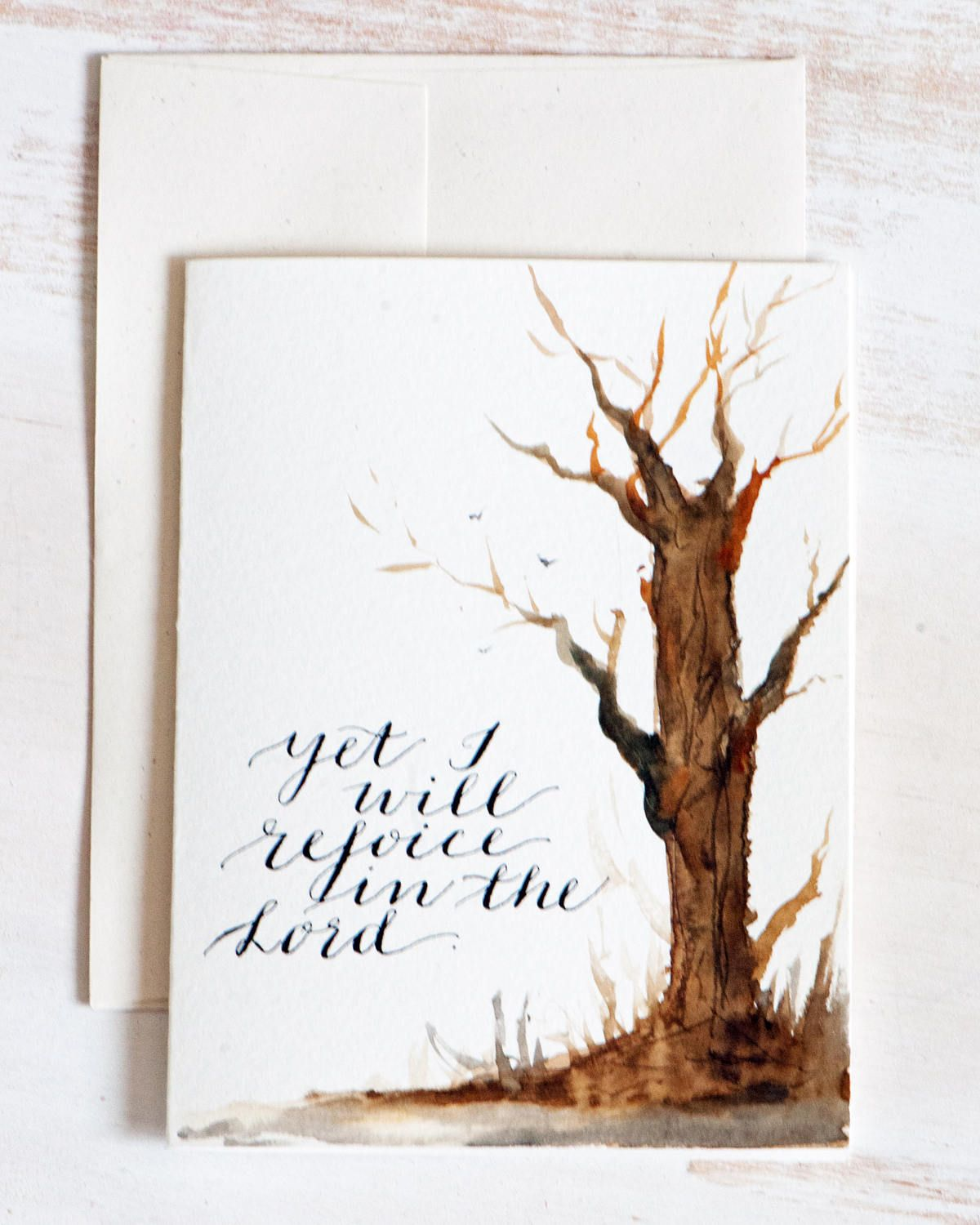 Easter Bible Quotes Original Greeting Card Watercolor Hand Lettered Card