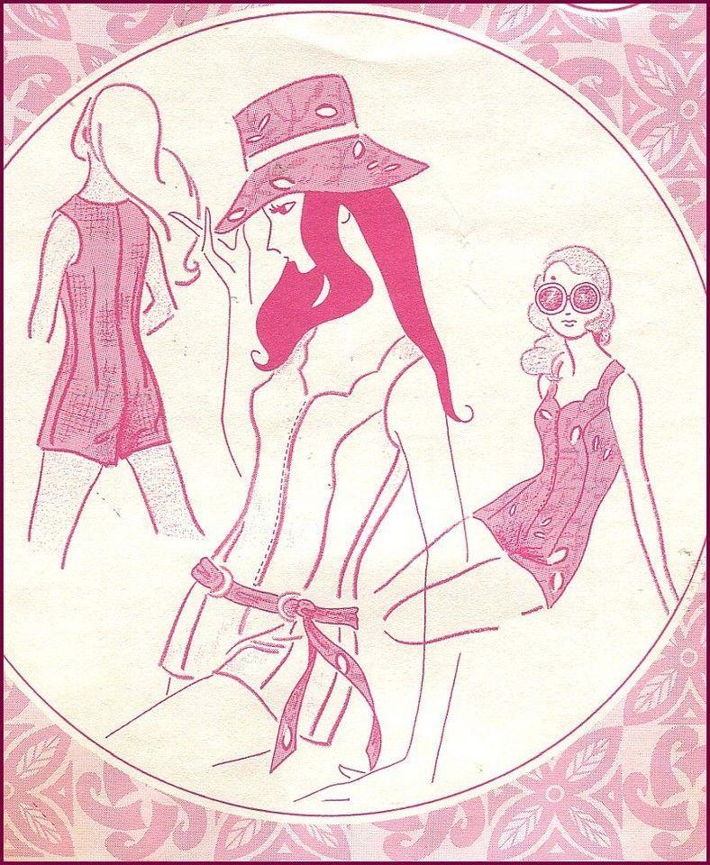 1970s vintage hawaiian beach romper culotte hat jumspuit pacifica 1970s Prom 1970s vintage hawaiian beach romper culotte hat jumspuit pacifica pattern b 36