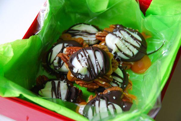 walnuts,caramel,darkchocolate,whitechoco,sprinkles.. made at home