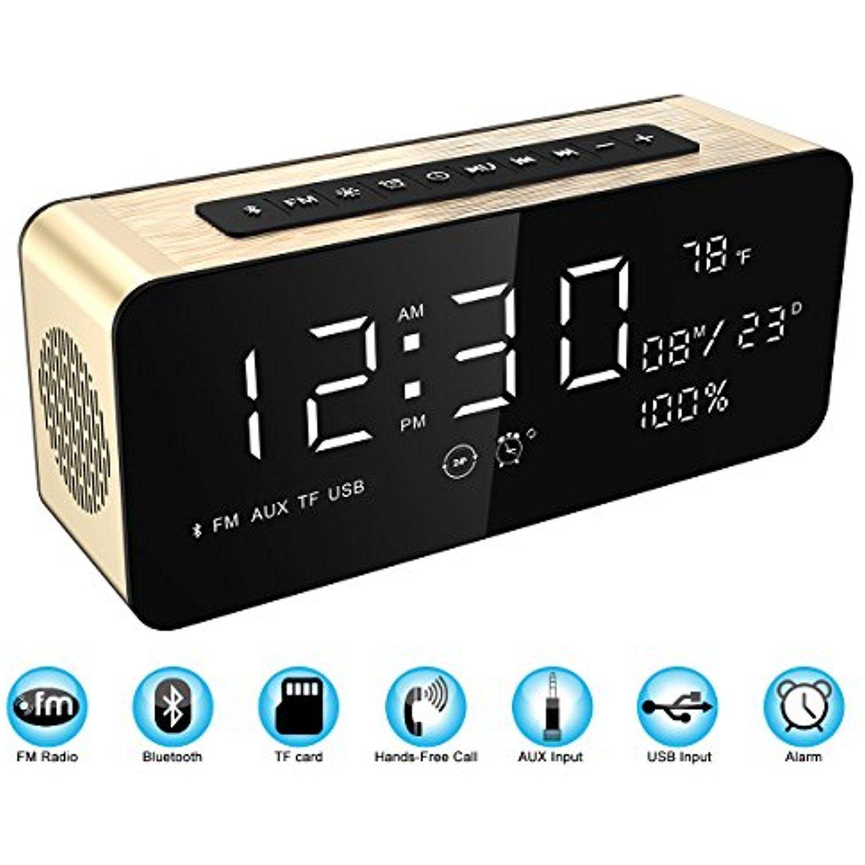 Soundance 12W Radio Alarm Clock Bluetooth Speaker with