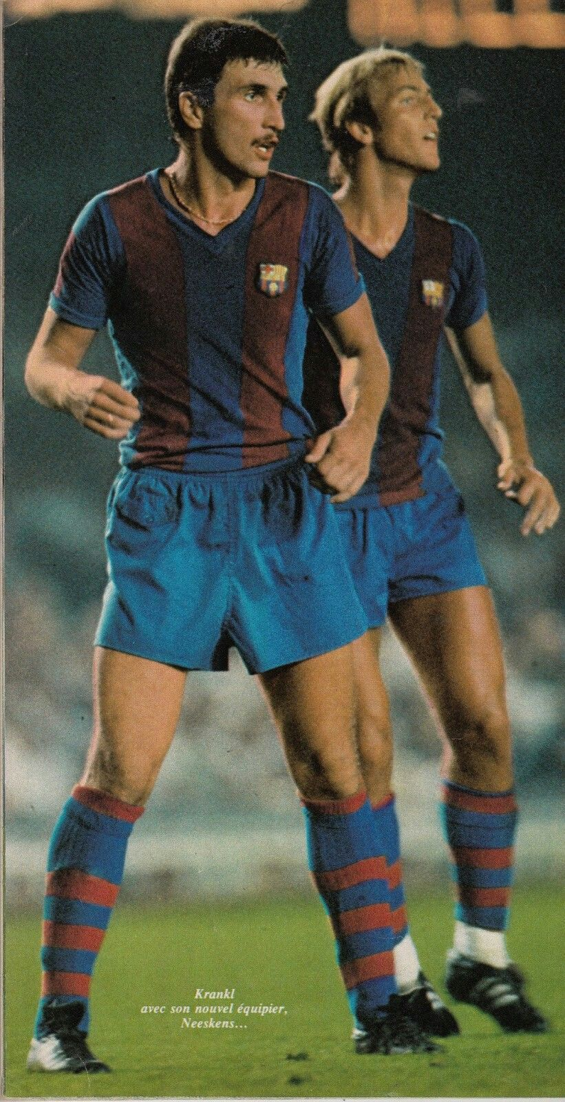 Hans Krankl and Johan Neeskens of Barcelona in action in 1979