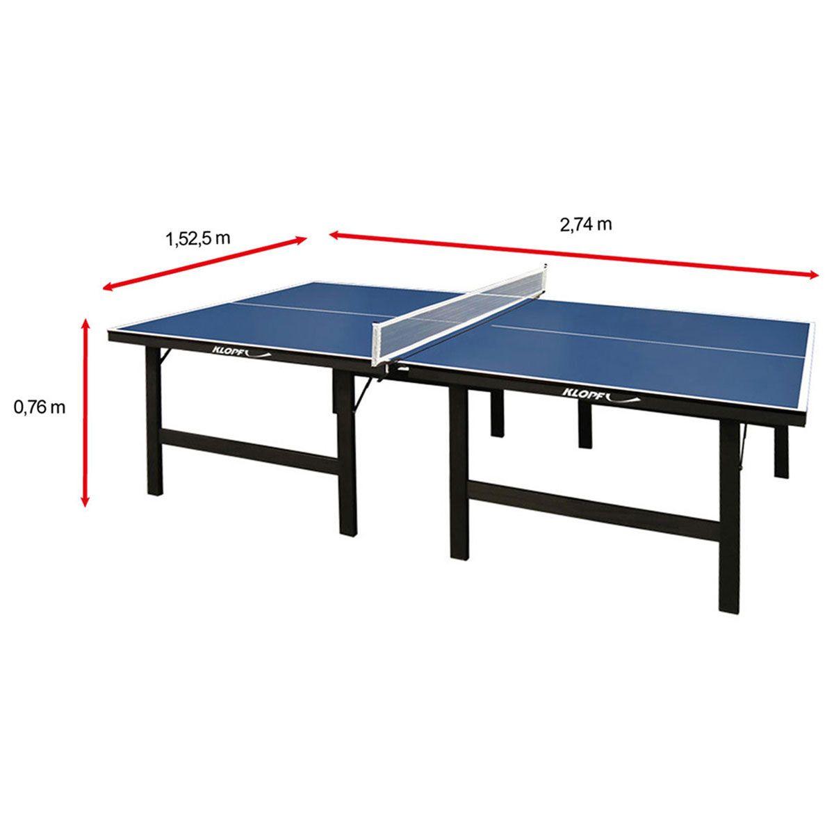 a778f6453 Mesa de Ping Pong   Tênis de Mesa Klopf - 15 mm Azul