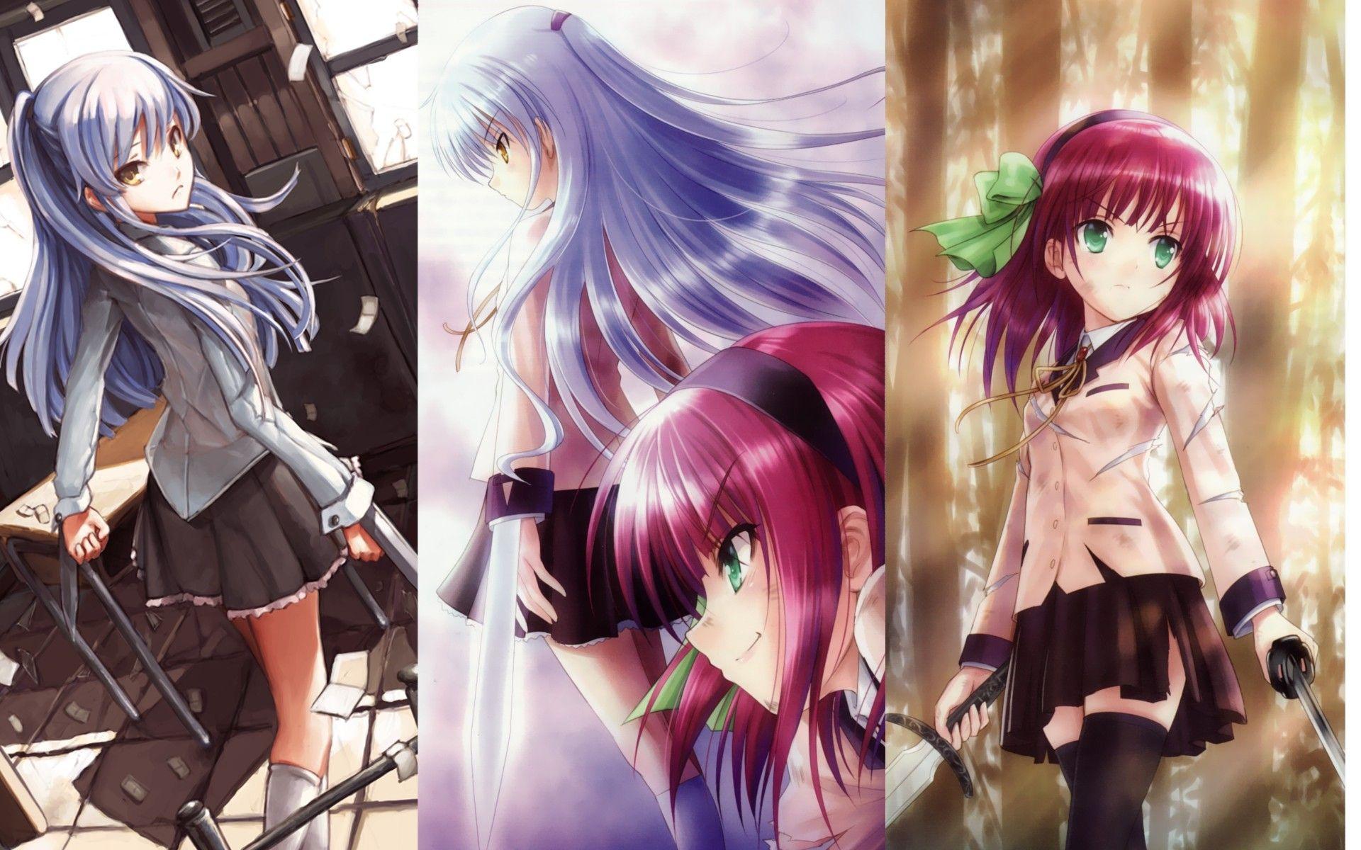 Anime Angel Beats! Kanade Tachibana Yuri Nakamura