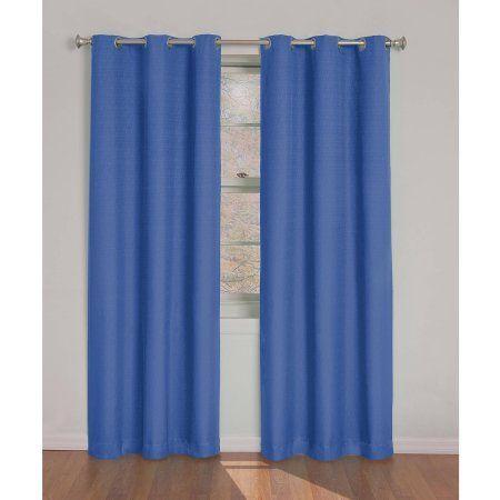 Eclipse Dayton Blackout Energy Efficient Curtain Panel Blue Products Curtains Walmart Kids Blackout Curtains Panel Curtains