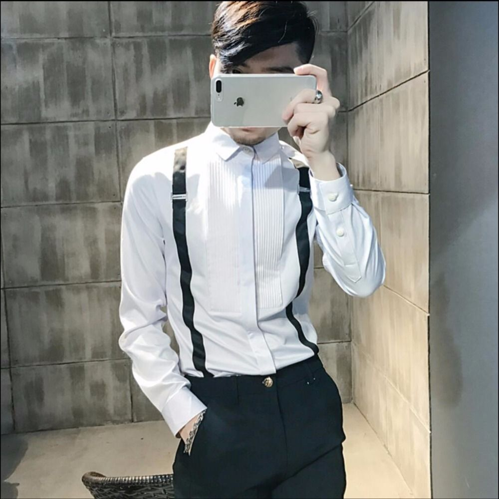 Wedding dress shirts for men  Click to Buy ucuc SXL Nightclub Bar Wedding Dress Shirt Menus Tide