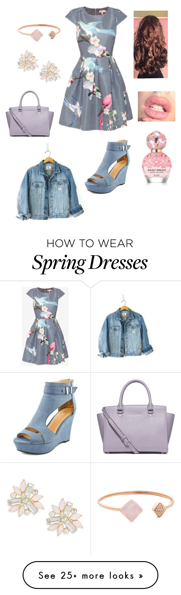 """Hurry up Spring"" by fashionlover351 on Polyvore featuring Ted Baker, Calvin Klein, MICHAEL Michael Kors, Cara, Michael Kors and Marc Jacobs"
