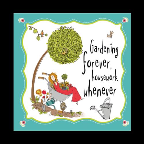 Gardening Birthday Cards Gardening Forever Housework Whenever