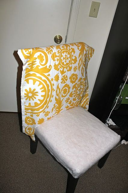 One Joyful Housewife: Reupholstering our parsons chairs: part two