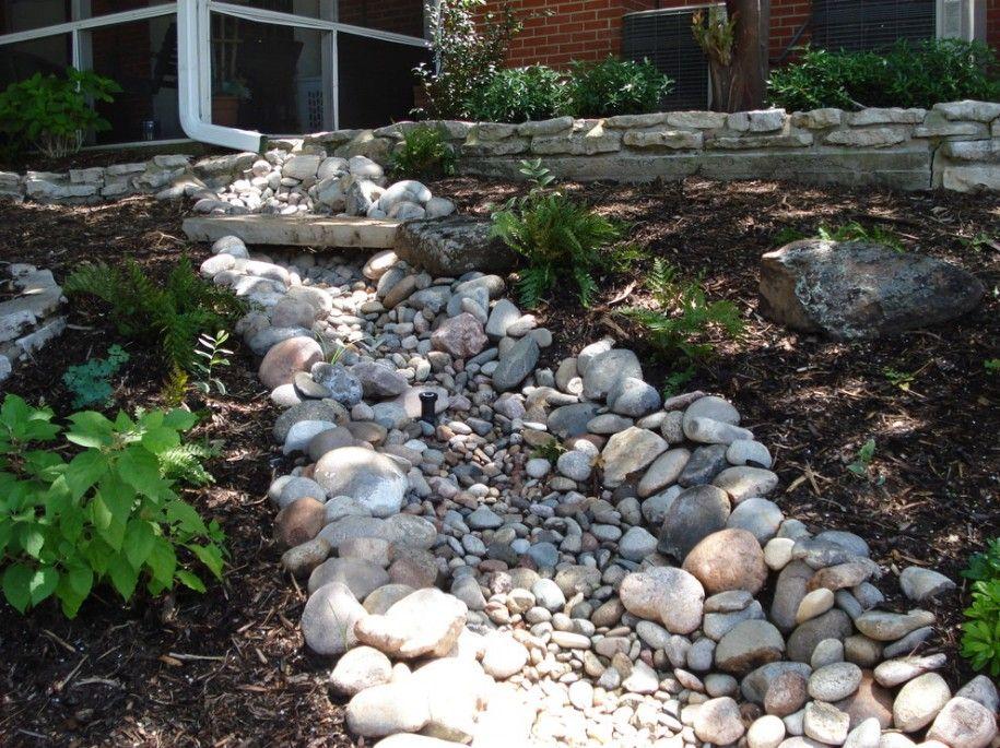 amazing dry river bed garden