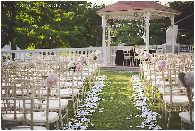 A Beautiful Outdoor Wedding Ceremony At The Alkaff Mansion Singapore