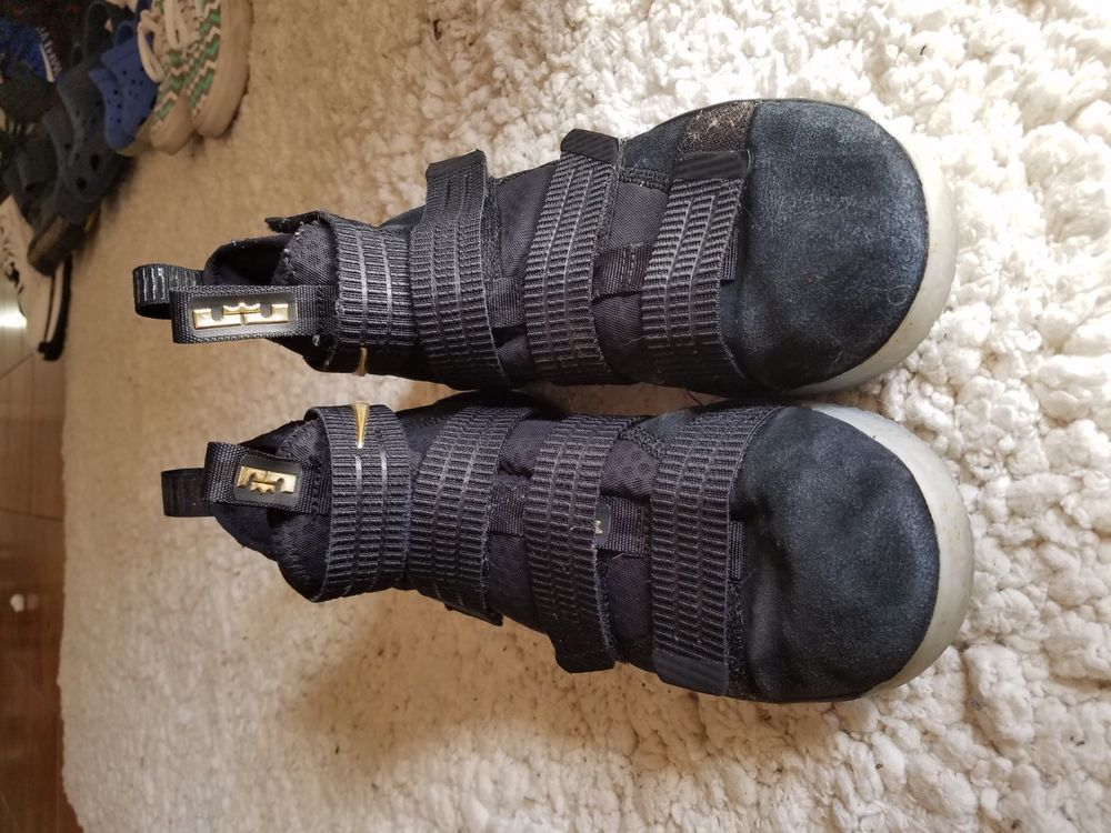 best place purchase cheap top quality Nike LEBRON Soldier 11 XI Black Black gum 897644 007 Size 9.5 ...