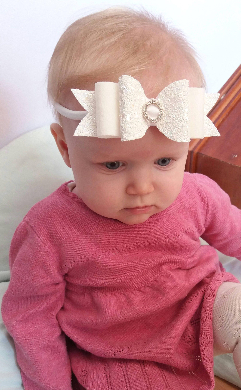 Girls Hair Accessories Baby Bows Small Bow -Hairclip Baby Headband Christening Headband Blush Baby Girls Small 2.5 Felt Hair Bow