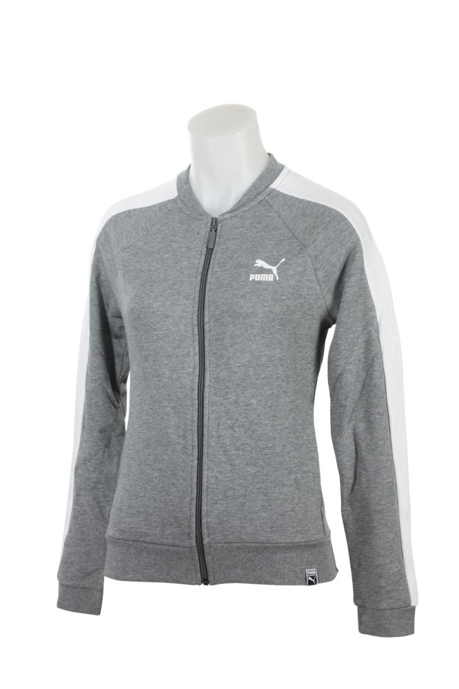 bb2c8149ec6f 572488-03 Women Archive Logo T7 Track Jacket Puma Medium Gray Heather