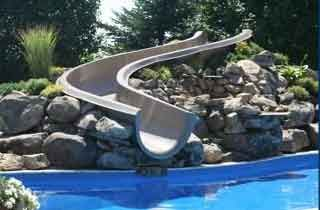 Inground Pools With Waterslides vision masters offers custom built pool water slides that are