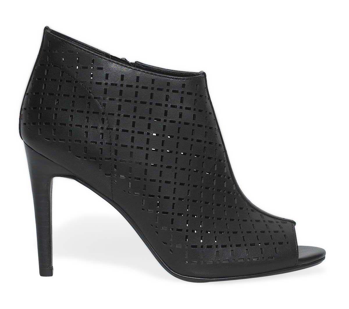 boots talon bout ouvert - boots / bottines - chaussures femme