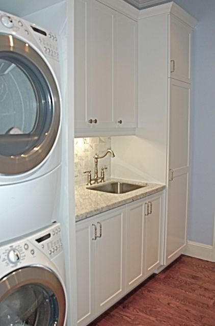 Nice Laundry Room Ideas Stacked Washer Dryer With And