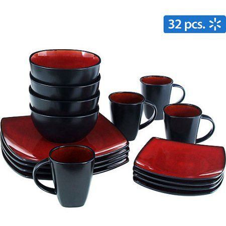 choice  sc 1 st  Pinterest & Gibson Home Soho Lounge Square 32-Piece Dinnerware Set Red | Soho ...