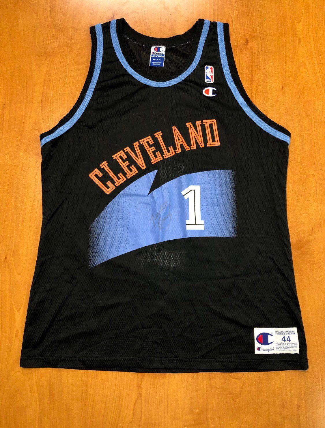 new concept ac8e1 02b84 Vintage 1996 Terrell Brandon Cleveland Cavaliers Champion ...