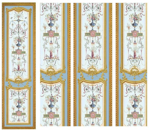 Victorian Mural Wallpaper: Victorian Wall Panels Wallpaper 1 12th Or 1 24th Scale #11