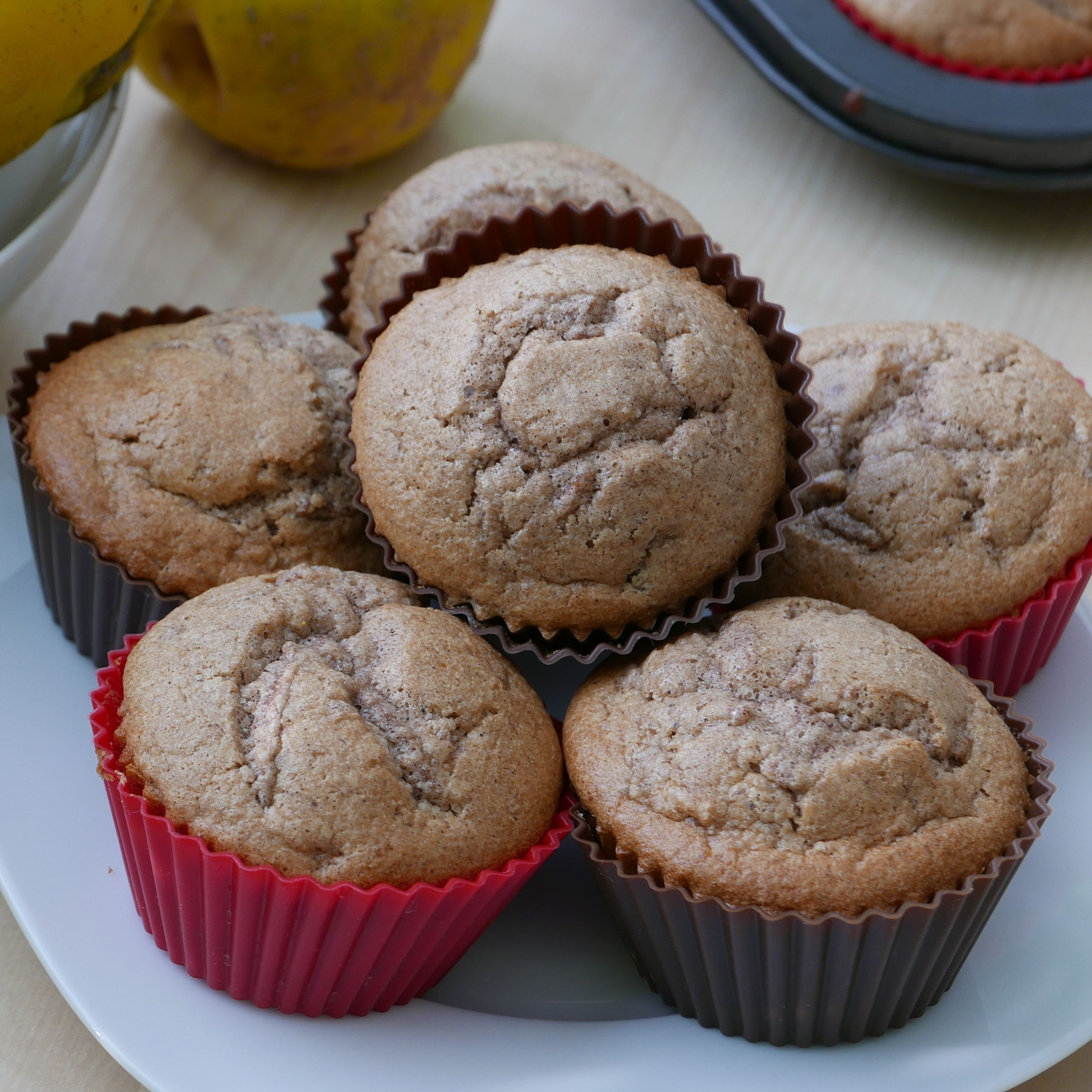Quince (Apple) Cinnamon Muffins