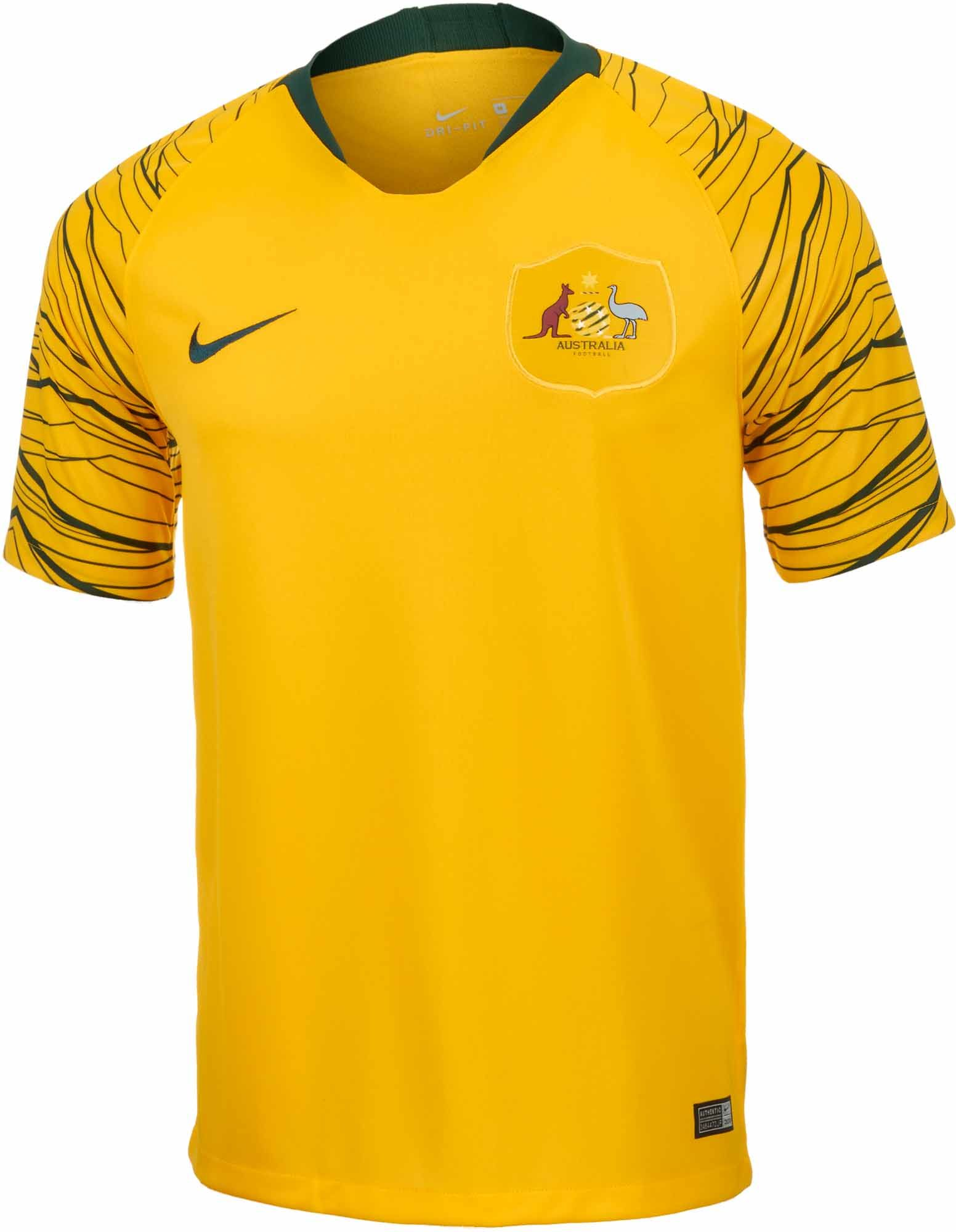 Shop for the 2018 19 Nike Australia Home Jersey at www.soccerpro.com ... 1a9fac751acc7