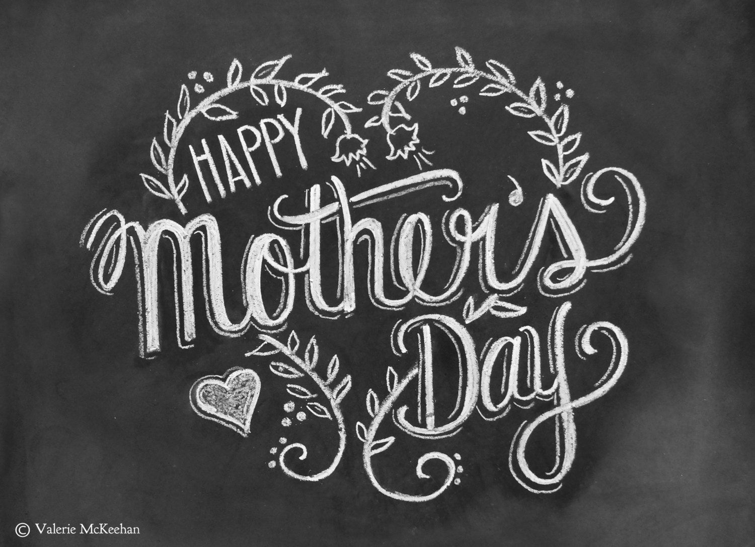Mothers Day Card - Happy Mothers Day - Chalkboard Art - Hand Lettering- Chalk Art. $3.50, via Etsy.