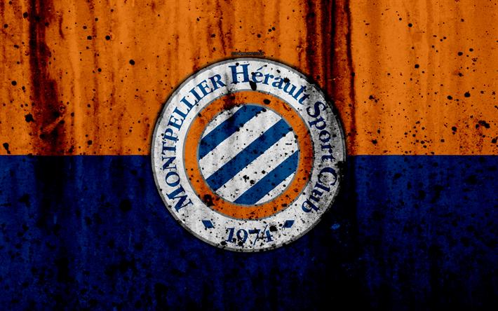 футбол 1 Wallpaper: Download Wallpapers FC Montpellier, 4k, Logo, Ligue 1