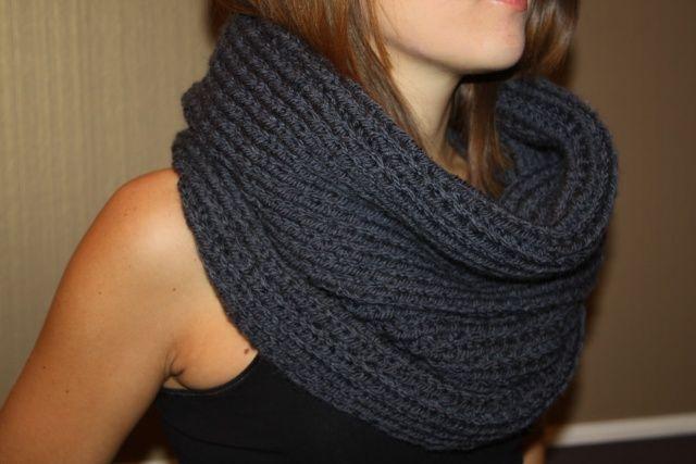 tricoter une echarpe col