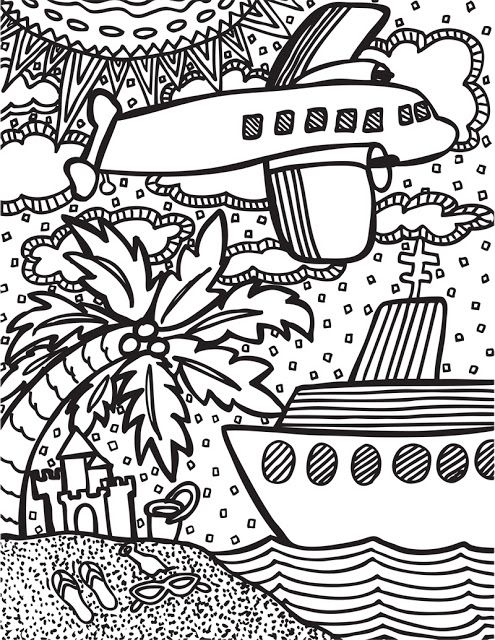 Abstract Doodles Coloring Pages | Coloring Sheets | Pinterest ...