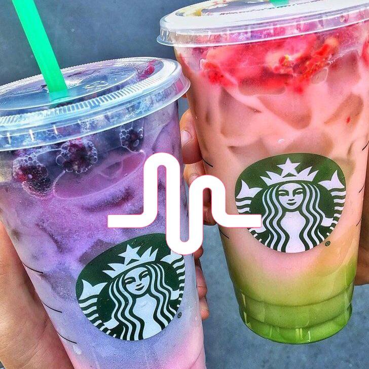 Musical.ly Logo Starbucks drinks recipes, Starbucks