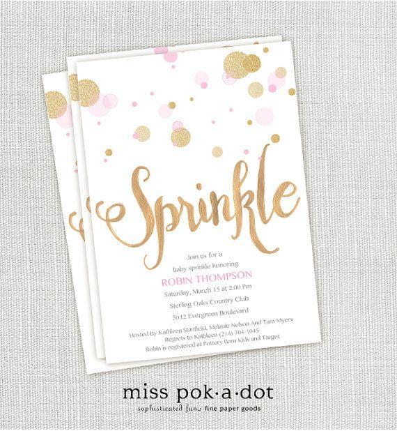 baby girl sprinkle invitation vin d shower pinterest sprinkles