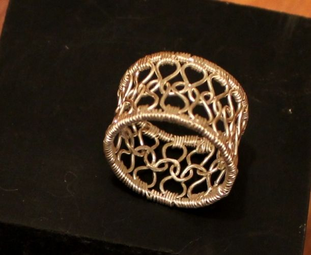 Knitting With Wire Tutorial : Arjaav knitted silver ring wire jewelry tutorial