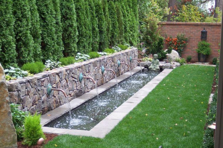 El Agua En El Jardin 50 Ideas De Fuentes Estanques Y Mas Patio - Fuentes-agua-jardin