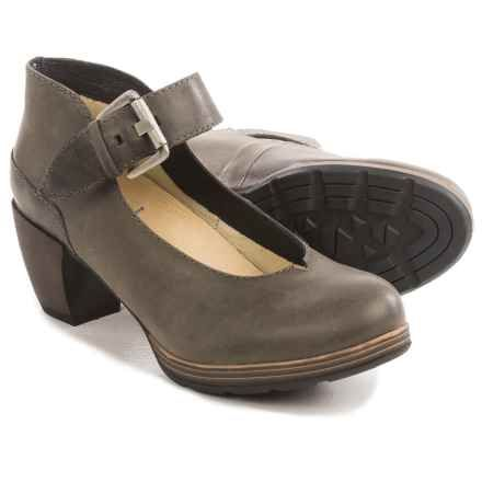 Wolky Aya Mary Jane Shoes - Leather (For Women) in Grey Vintage - Closeouts