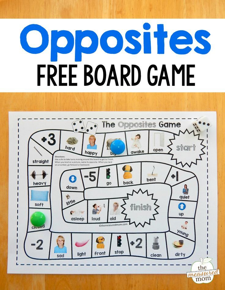 Grab this fun and free opposites game for preschool - just print and ...