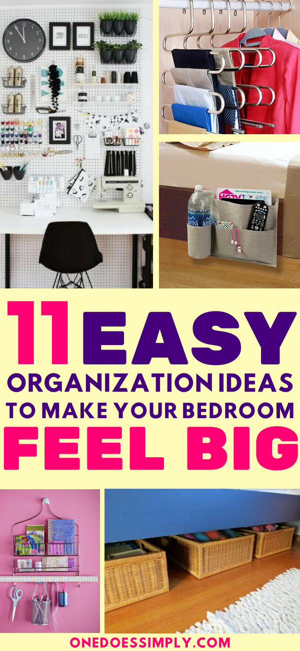11 Organization Ideas To Make Your Bedroom Feel Bigger See How To Organize Your Room Ev Small Bedroom Organization Small Kids Room Kids Bedroom Organization