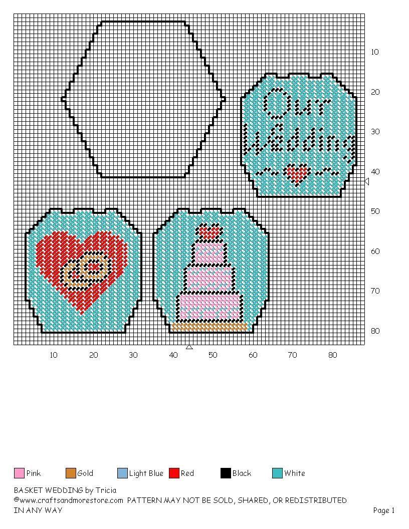 WEDDING BASKET cute idea table centerpieces   plastic canvas ...